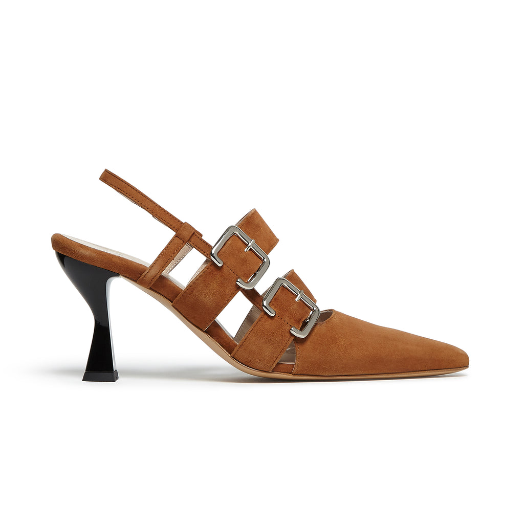 Niek Pump Brown Suede