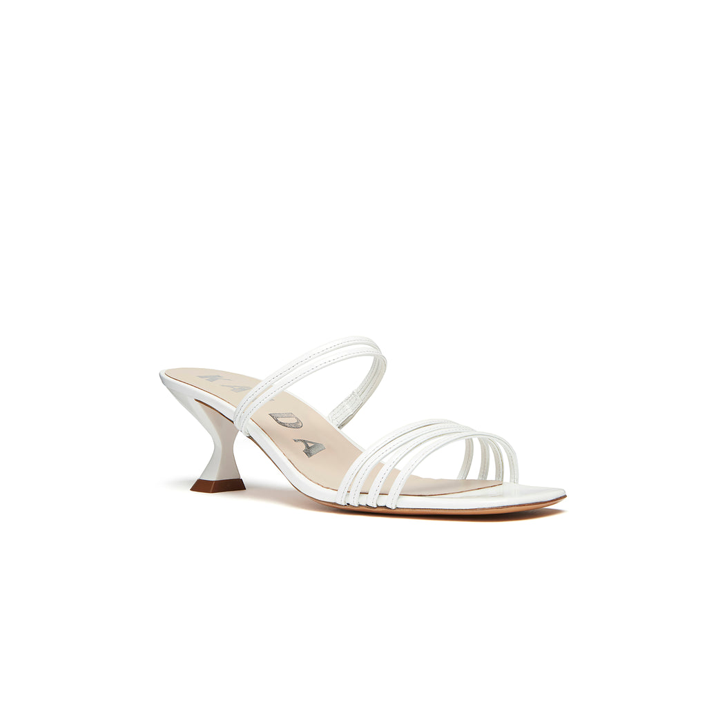 Simon Mini Sandal White