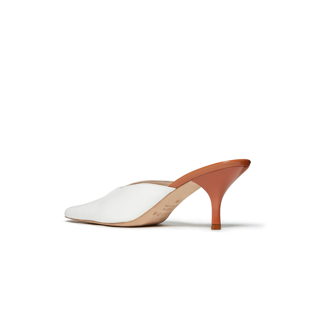 Alba Mismatch Mule Brown and White back angle