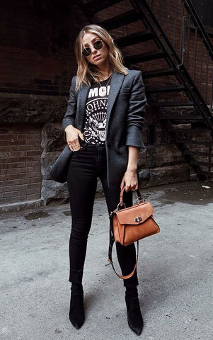 style rock femme - look rock - clook