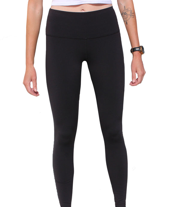Black Undomesticated Logo Leggings