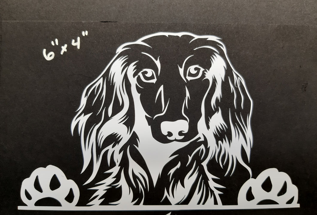 Peeking Doggie Window Decals
