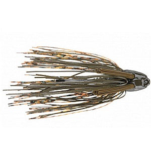 Green Pumpkin Splash | Head Knocker Double Weed Guard Jig | Jethro Baits | BigFishOn.com