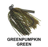 Green Pumpkin Green | Tungsten Hammerhead Jig | Queen Tackle | BigFishOn.com