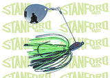 Black Chartreuse | Night Missing Link Jig  | BigFishOn.com