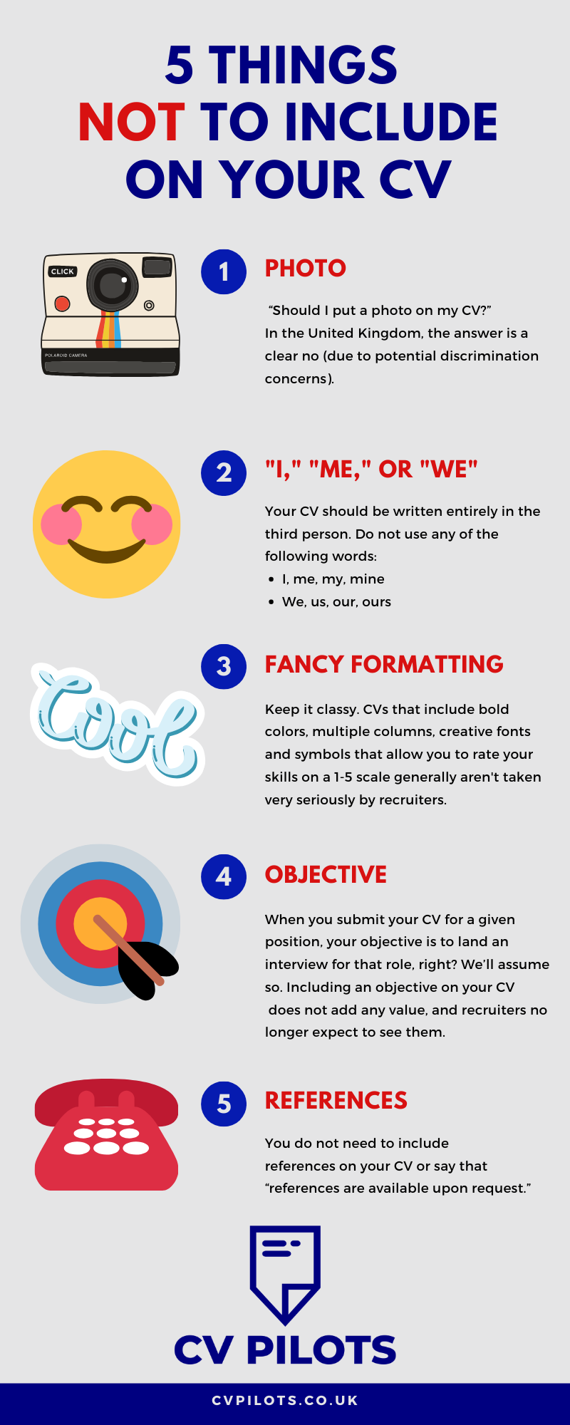 5 Things Not to Put on Your CV