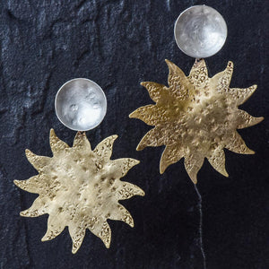 Sun Bronze Earrings