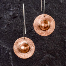 Load image into Gallery viewer, Saturn Copper Earrings