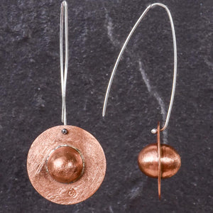 Saturn Copper Earrings