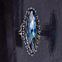 Load image into Gallery viewer, Global Glam Blue Crystal Ring