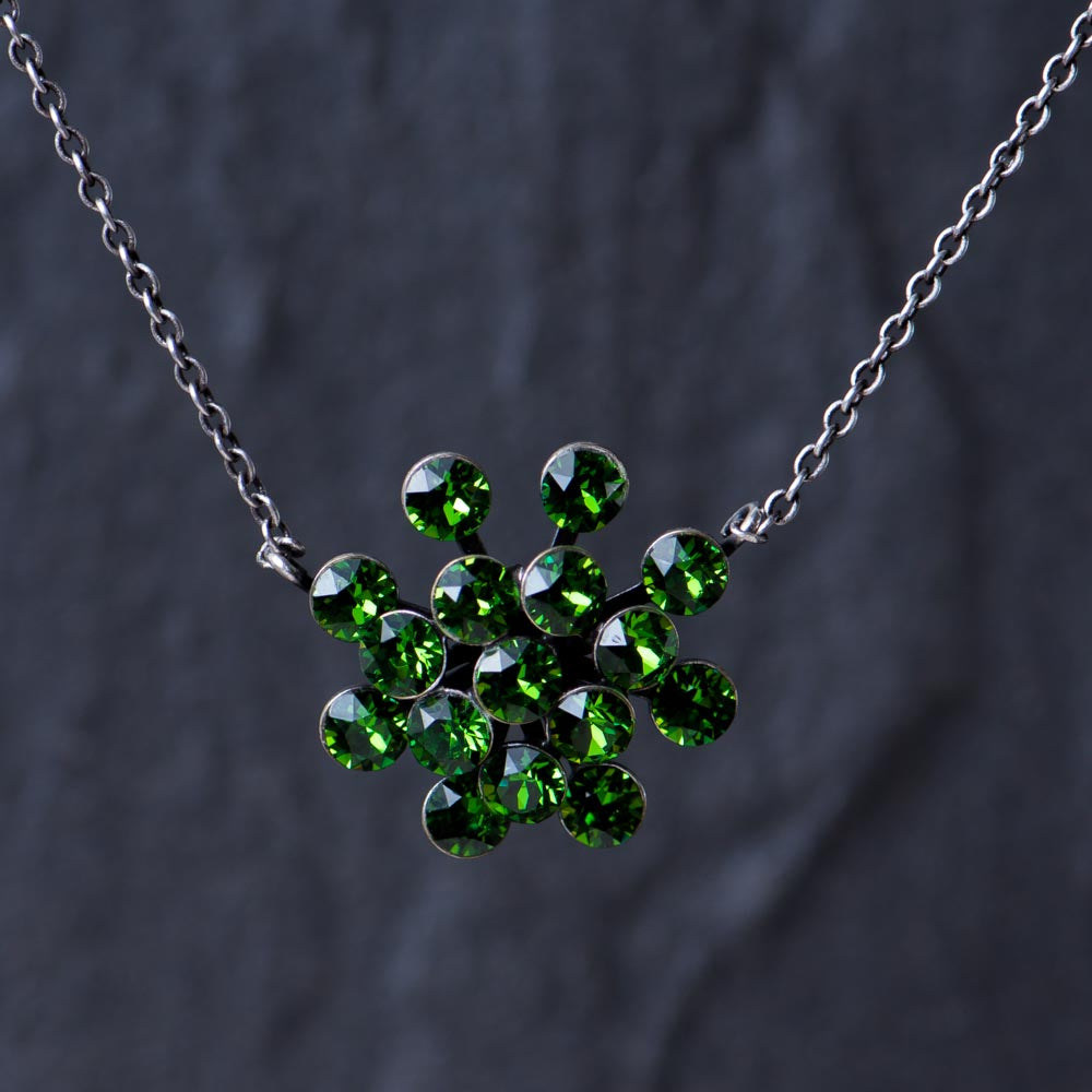 Magic Fireball Necklace - Green Fern