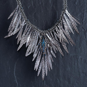 Global Glam Necklace - Blue Denim