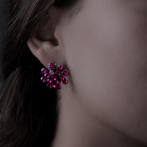 Magic Fireball Earrings - Fuchsia