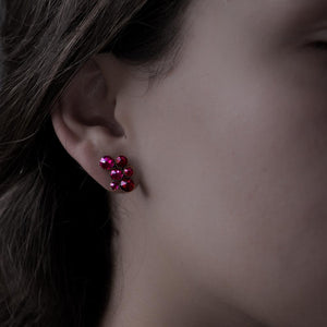 Inside Out Earrings - Dark Pink