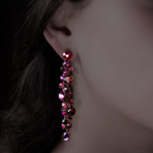 Load image into Gallery viewer, Waterfall Earrings - Dark Pink