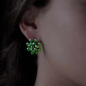 Magic Fireball Earrings - Green Fern