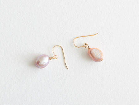 "Boucles d'oreilles ""Micro"" Perles Baroques roses"