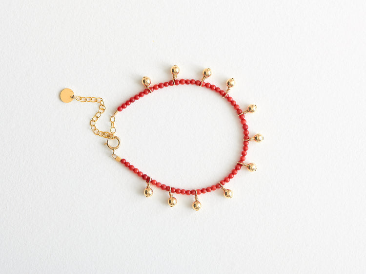 "Bracelet ""My Luck"" Corail Sea Bambou"