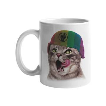 Pride Army Cat Mug