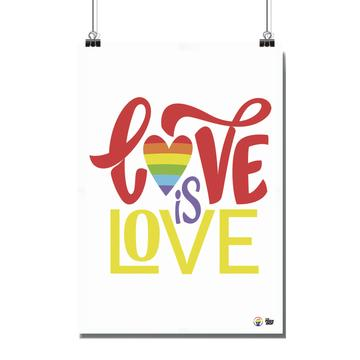 Poster - Size A4 - Love is Love 02