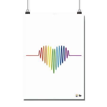 Poster - Size A4 - Pride Heart