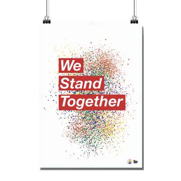 Poster - Size A4 - We Stand Together