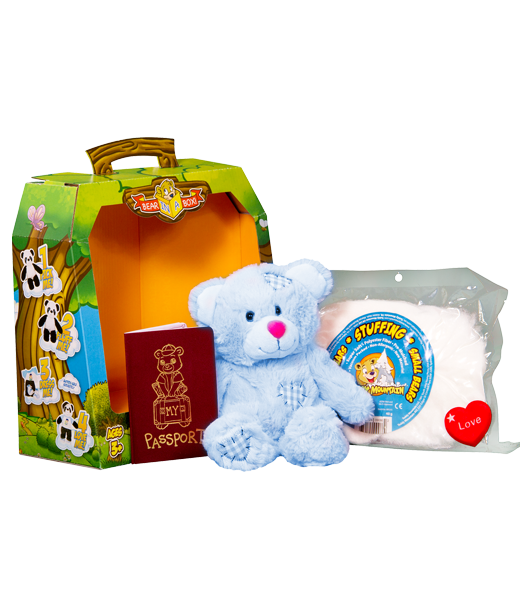 Teddy Bear Mountain Blue Patch Teddy Bear