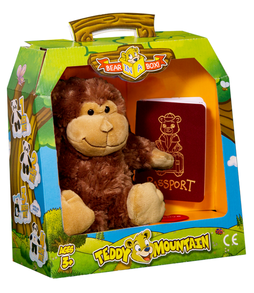 Teddy Bear Mountain Mookey The Monkey Plush Animal