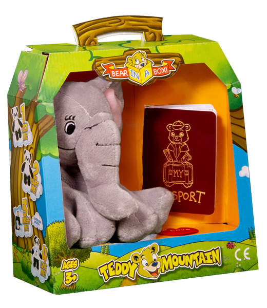 Teddy Bear Mountain Trunks The Elephant Plush Animal