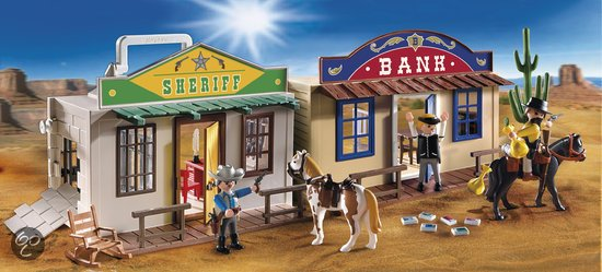 PLAYMOBIL 4398 Take Along Western City