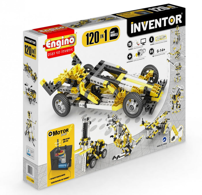 Engino Inventor Motorized 120-in1 Models Stem