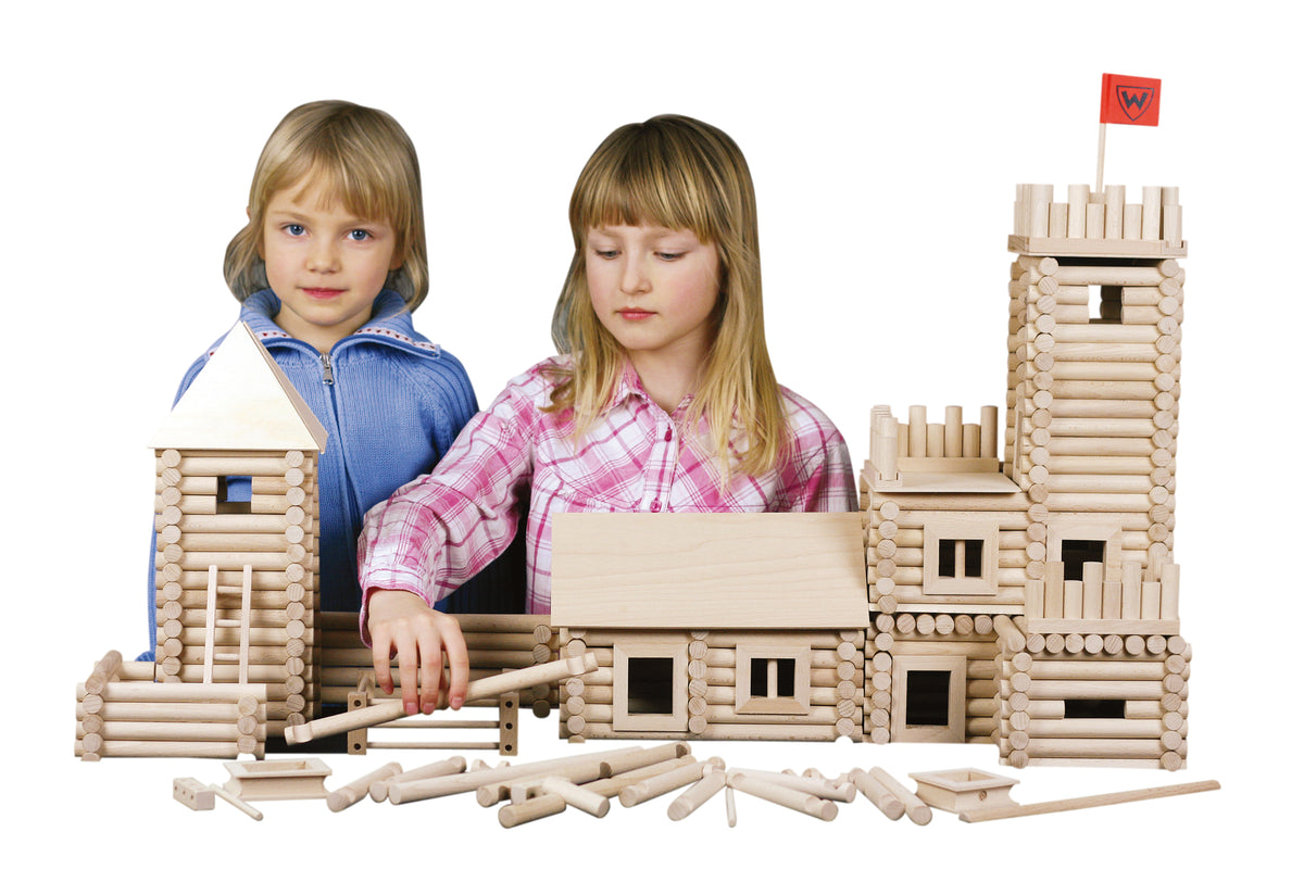 Walachia Vario XL Building Wooden Construction Set of 184 Pieces