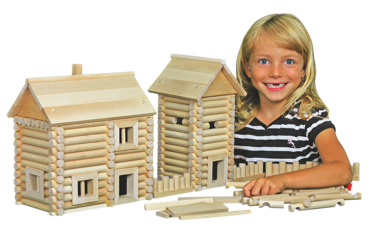 Walachia Vario Massive Wooden Building Wooden Construction Set of 209 Pieces