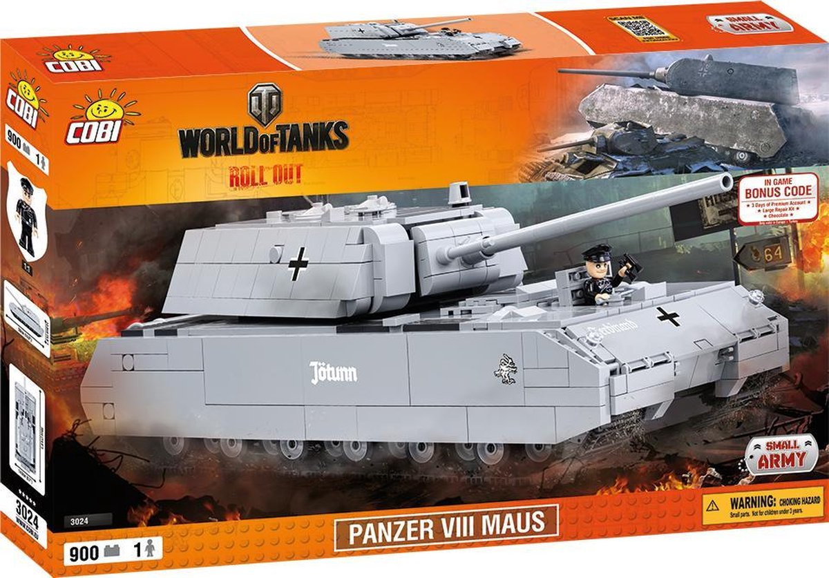 Cobi 3024 World Of Tanks  Panzer VII Maus