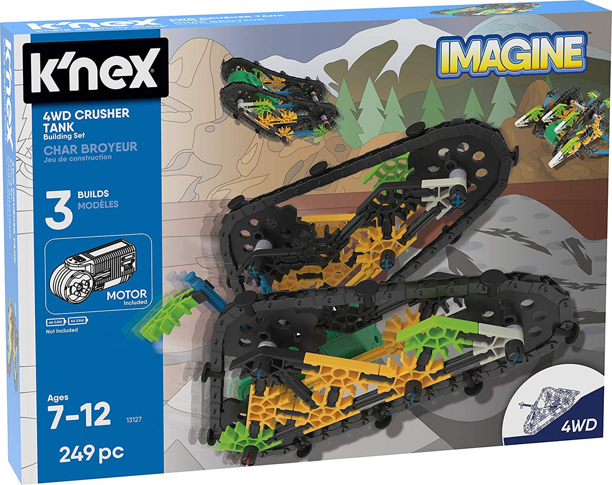 KNEX Imagine, 4WD Crusher Tank Building Set