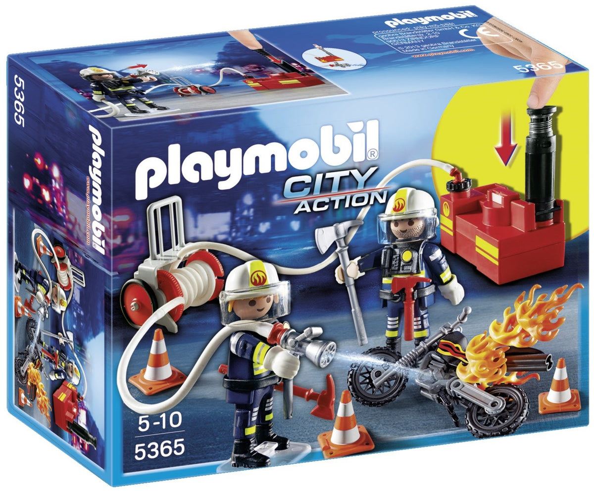 Playmobil 5365 City Action Fire Brigade Firefighters with Water Pump - Multi-Coloured