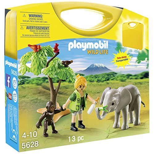 PLAYMOBIL Wild Life 5628 African Safari Carrying Case Playset