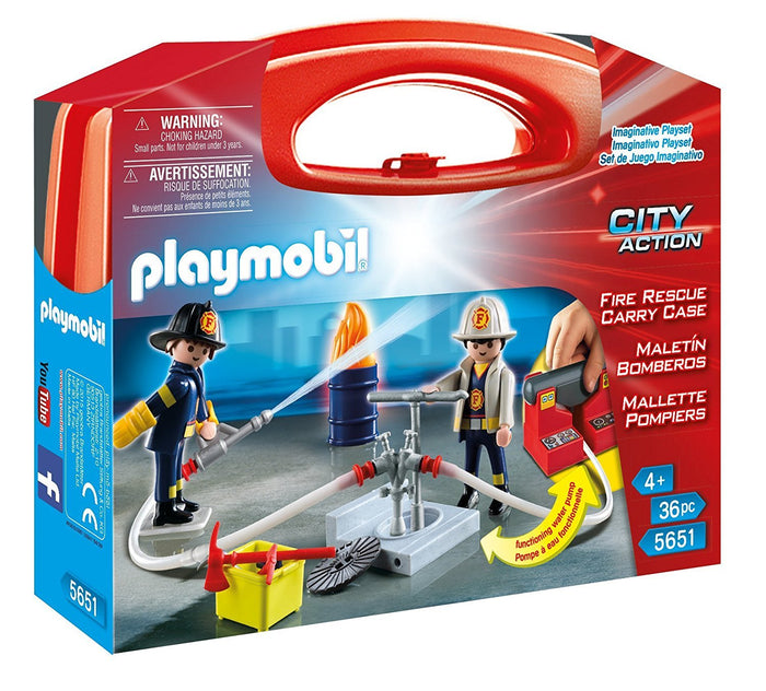 PLAYMOBIL 5651 City Action Fire Rescue Carry Case