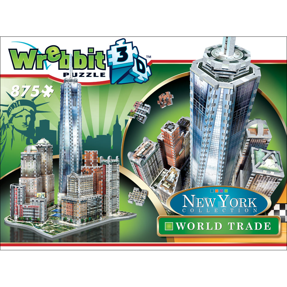 Wrebbit 3D Puzzle World trade Center New York 875 Pcs