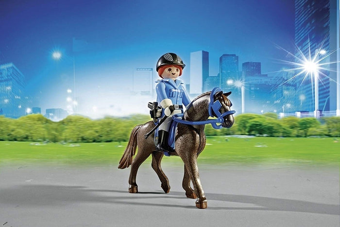 Playmobil City Action Police With Horse And Trailer - 6922