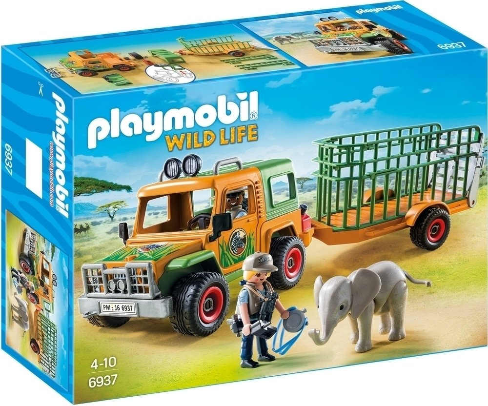 Playmobil 6937 Wild life Ranger's Truck with Elephant