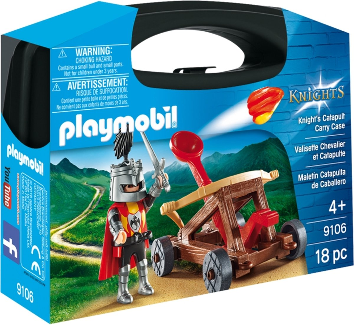 Playmobil 9106 Knights Catapult Carry Case