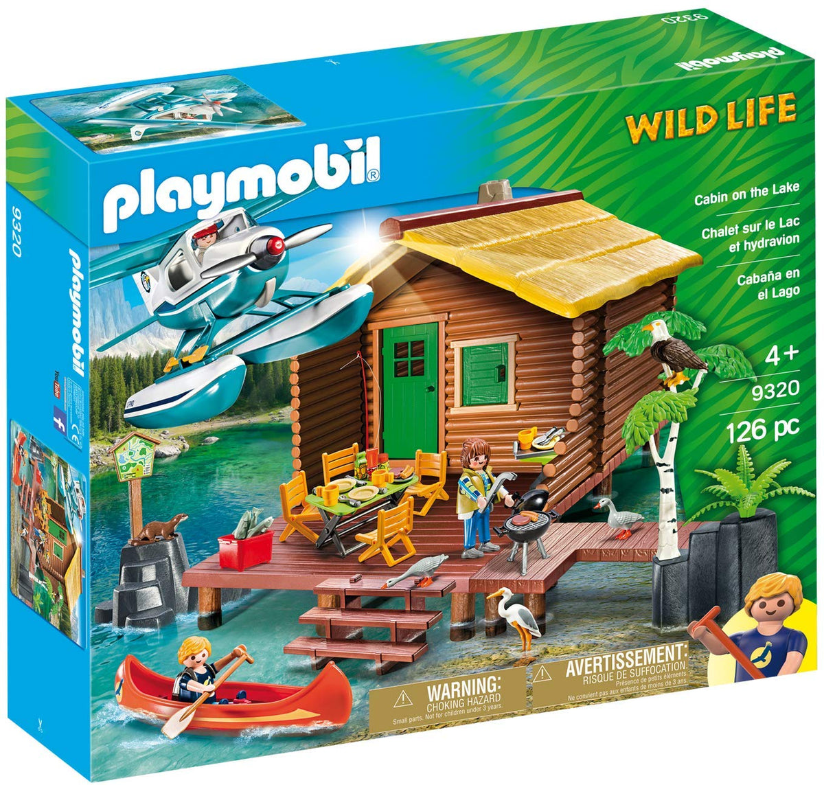 Playmobil 9320 Wild Life Cabin On The Lake