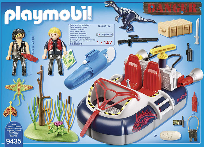 Playmobil 9435 City Action Dino Hovercraft with Underwater Motor