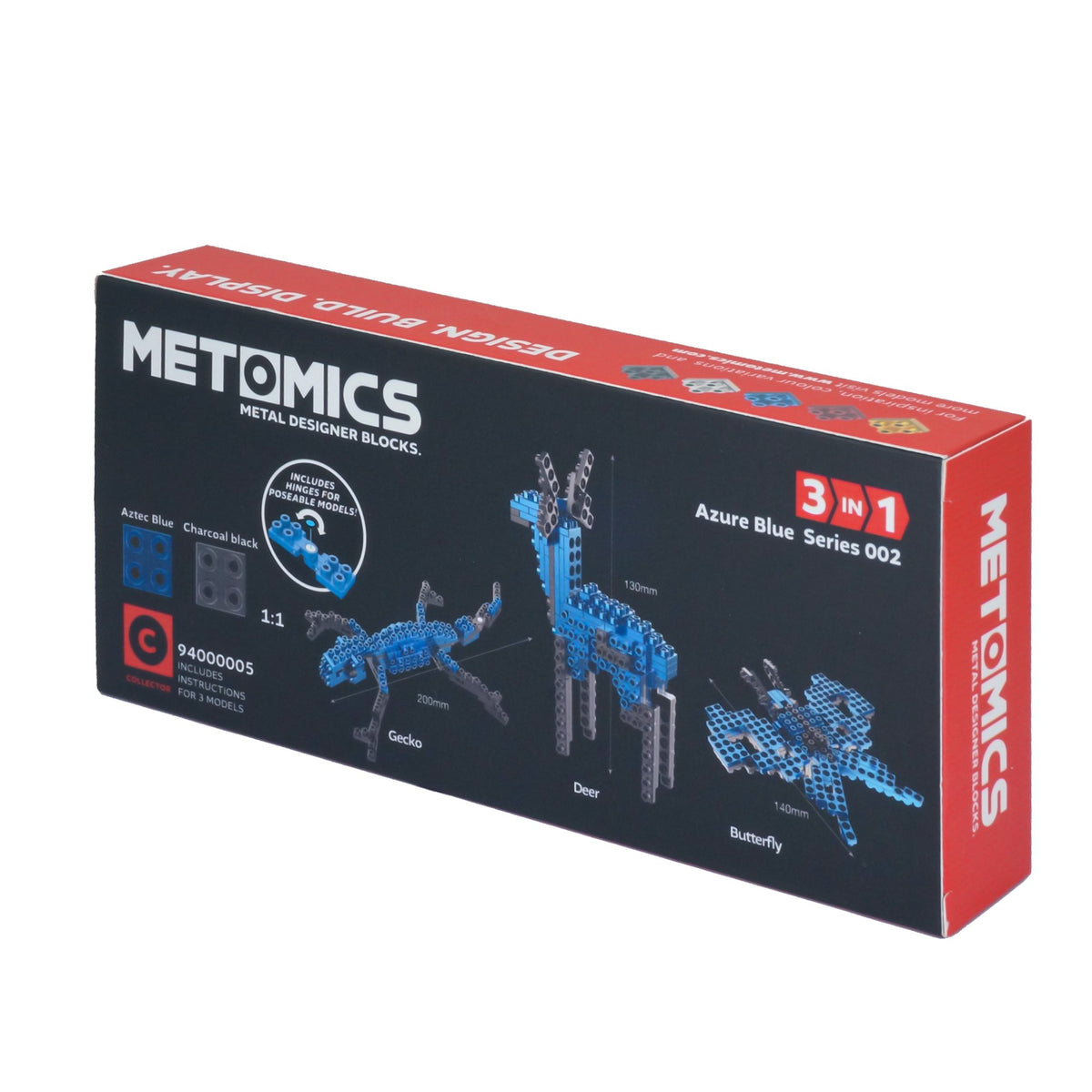 Metomics Butterfly 3-IN-1 150 Designer Aluminium Blocks Builds
