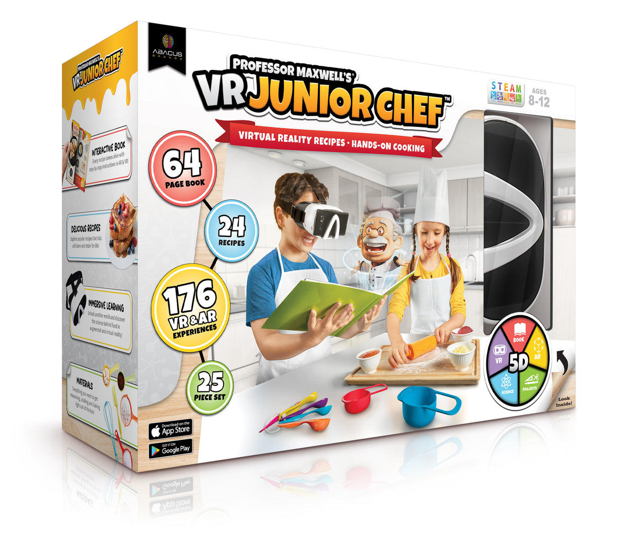 VR JUNIOR CHEF Professor Maxwell's Virtual Reality Cooking Kit