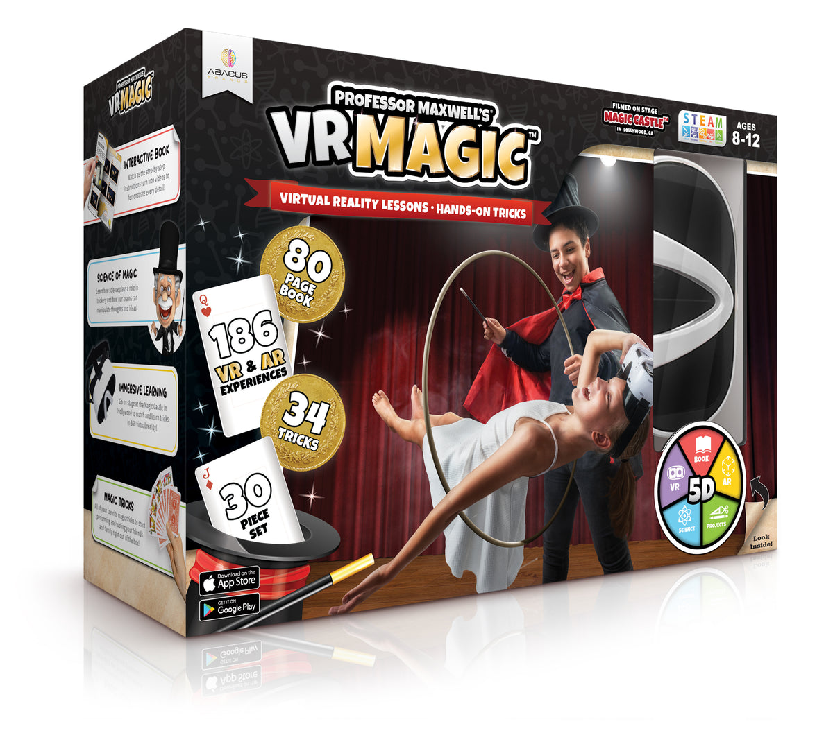 VR MAGIC Professer Maxwell's Virtual Reality Magic Trick Set For Kids