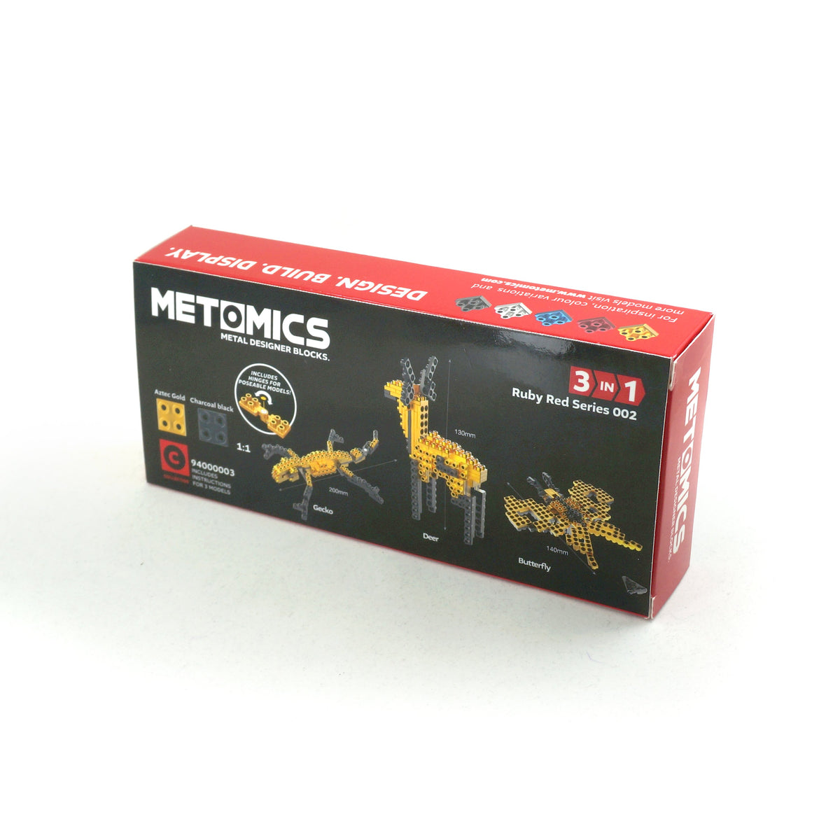 Metomics Deer 3-IN-1 3-in-1 set of 150 designer aluminium blocks builds