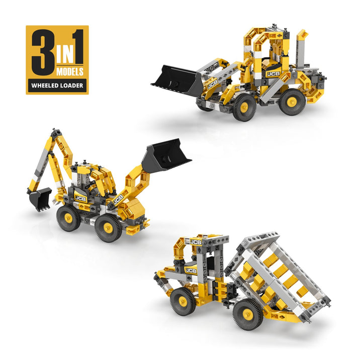 Engino JCB20 3-in1 Construct Wheeled Loader