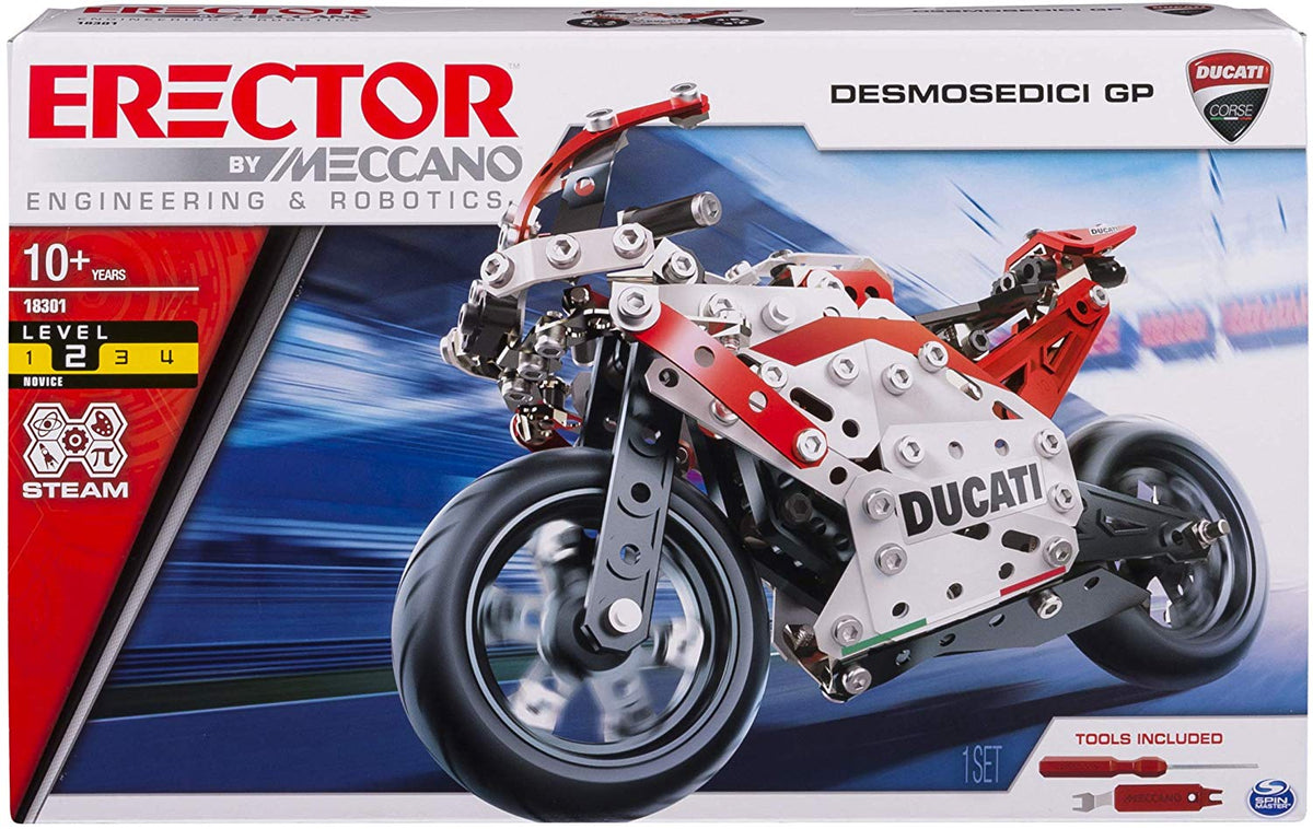 Meccano Erector Ducati GP Model Motorcycle Building Kit